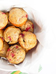 Raspberry Blueberry Whole Wheat Muffins made with Greek Yogurt. Yes, please!