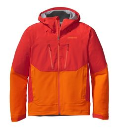 Patagonia's interesting new softshell addition to their Guide series called the Mixed Guide (below) - hardshell shoulders/upper chest and softshell everywhere else.