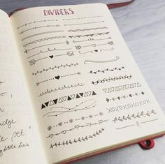 bullet journal page number ideas - Google Search