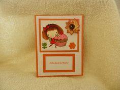 tarjeta hecha a mano y coloreada