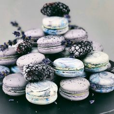 """4,657 Likes, 26 Comments - AmourDuCake (@amourducake) on Instagram: """"Blackberry and Marble macarons by @polina_cakelab. These macarons are so georgous!!! #marble…"""""""
