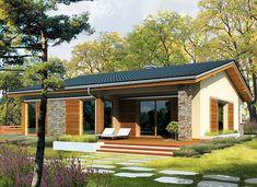 Bob - zdjęcie 1 Country House Design, Country Style House Plans, Small House Design, Modern House Design, Simple House Plans, Modern House Plans, House Floor Plans, Bungalow Haus Design, Modern Bungalow House