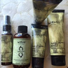 Wen hair care products brand new (on hold) wen hair care products brand new never used. Comes with one anti frizz hair cream, two cleansing conditioners, one ultra nourishing cleansing treatment, one replenishing treatment mist. Wen  Accessories Hair Accessories