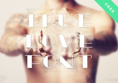 True Love is an old-school tattoo font created by Davide Cariani fromDavelab.net. He's an Italian UI designer and web developer. The font is a first typography experiment and it's for free. Glyphs available: it include letters, numbers, dashes and dots.