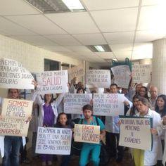 Médicos del hospital  de niños J.M de los Rios en Caracas, protestan por falta de insumos.