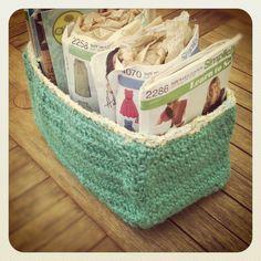 crocheted box container - scatolo contenitore all'uncinetto