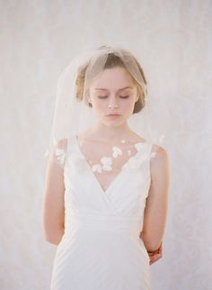 Petals soft blusher veil - Style #140 - Ready to Ship