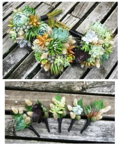 Succulent wedding flower