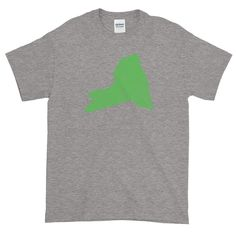 New York Distressed State Shape Short-Sleeve T-Shirt