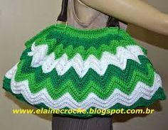 Resultado de imagem para bolsa de croche zig zag Andrea artesanato