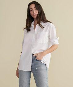 Jenni Kayne Boyfriend Shirt White Boyfriend White Shirt, White Shirts Women, Oxford White, Crisp White Shirt, Fall Capsule Wardrobe, Fashion Jackson, Jenni, Clothes For Women, Tomboy
