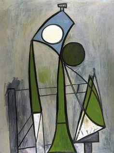Pablo Picasso - Femme dans un fauteuil - 1946 - (Woman in an armchair) Pablo Picasso, Art Picasso, Picasso Paintings, Georges Braque, Spanish Painters, Art Moderne, Oeuvre D'art, Painting & Drawing, Painting Lessons