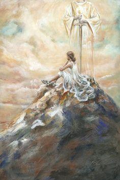 The Battle Is Won   Artist Pennie Strople ~ Spiritual Warfare ~ Women