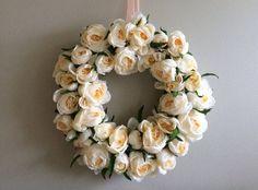 Hey, I found this really awesome Etsy listing at https://www.etsy.com/listing/268734787/creamy-peach-rose-wreath-peach-wreath