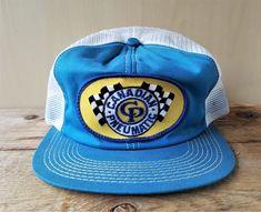 c3af47fdac2 Vintage 1980s CANADIAN PNEUMATIC Racing Mesh Trucker Hat Snapback Cap  K-Brand  KBrand