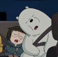 Ice Bear and Chloe Cute Panda Wallpaper, Bear Wallpaper, Cute Wallpaper Backgrounds, Disney Wallpaper, We Bare Bears Wallpapers, Panda Wallpapers, Cute Cartoon Wallpapers, Ice Bear We Bare Bears, We Bear