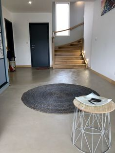 Discover recipes, home ideas, style inspiration and other ideas to try. Terrazzo Flooring, Concrete Floors, Kitchen Flooring, Restaurant Kitchen, Restaurant Design, Restaurant Interiors, Restaurant Ideas, Concrete Staircase, Staircase Design