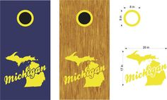 Michigan State Cornhole Board Decals Stickers Bean by StickerChef