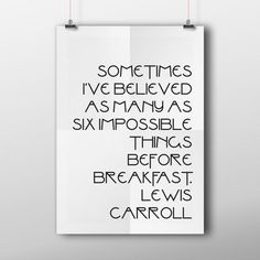 Lewis Carroll Quote Typography Print Quote Print by TidbitsLab