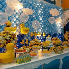 "BABY SHOWER~Duck theme by Monalisa on Instagram: ""Festa tão linda de Patinhos por…"