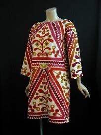 simon ellis 1960s geometric print mini dress