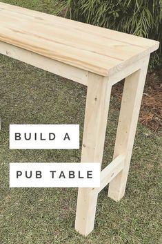 Pub furniture DIY - DIY Pub Table Tutorial / Pub sets products, pub sets ideas, home pub sets, pub sets furniture, bar -