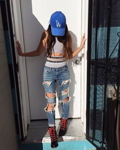 @jessyeezus giving us a lesson how to rock the lora lora 2 piece for that day to day!   Get yours today! http://ift.tt/1bN9t1v #skinnybitchapparel #ootd #LA #dodgers #loralora #instastyle #instashop