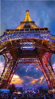 The Eiffel Tower ~ at sunset, Paris