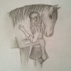to sign - Bleistiftzeichnung - Art Sketches Girl Drawing Sketches, Girly Drawings, Horse Drawings, Art Drawings Sketches Simple, Sketch Painting, Pencil Art Drawings, Disney Drawings, Easy Drawings, Animal Drawings