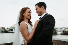 Riverside Romance - Our divine Georgia Collection captured in the heart of the city for a modern twist on classical style. Elegant Modern Wedding, Brisbane River, Bar Grill, In The Heart, Grilling, Georgia, Romance, Weddings, Bodas