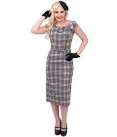 Stop Staring! 1940s Style Light Brown Plaid Fitted Renee Wiggle Dress Stop Staring http://www.amazon.com/dp/B00Q7AEJVS/ref=cm_sw_r_pi_dp_qbCKub07KX71M