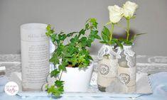 Windlicht Taufe Glass Vase, Bottle, Decor, Vintage, Wedding Entrance, Decorate Bottles, Invitations, Decoration, Flask