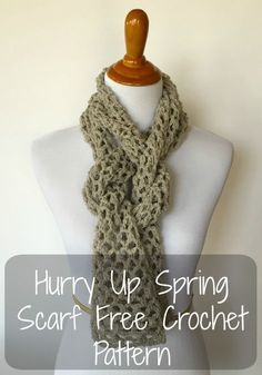 Hurry Up Spring Scarf - Free Crochet Pattern | Yarn Obsession ~k8~