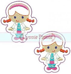 Embroidery Designs - Cutie Doctor Girl Felt Clippies 4x4 - Welcome to Lynnie Pinnie.com! Instant download and free applique machine embroidery designs in PES, HUS, JEF, DST, EXP, VIP, XXX AND ART formats.