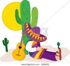 Image of Cactus Mexico Mexican Men, Mexican Party, Mexican Folk Art, Painted Rock Cactus, Painted Pots, Cactus Images, Mosaic Garden Art, Cactus Drawing, Cactus Decor