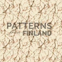 Treetop – Leafy by Ilana Vähätupa   #patternsfromagency #patternsfromfinland #pattern #patterndesign #surfacedesign #printdesign #ilanavahatupa