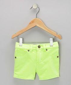 Look at this #zulilyfind! Leaf Neon Shorts - Girls by Request Jeans #zulilyfinds