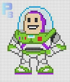 Toy Story Buzzlightyear. This is another bead pattern, but this can be converted to a cross stitch or a rug for a child's room