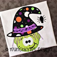 Witch Spider Applique by MunchkymsDesign on Etsy, $4.00