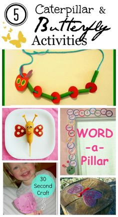 5 Butterfly and Caterpillar Projects: Kid's Co-op ~ Reading Confetti