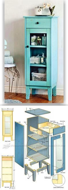 Bathroom Cabinet Plans - Furniture Plans and Projects | WoodArchivist.com