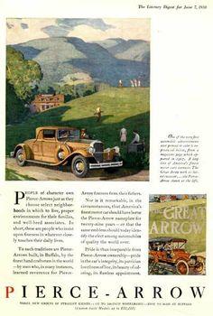 1930 Pierce Arrow Coupe                                                  An up-market straight-eight Coupe from Pierce Arrow