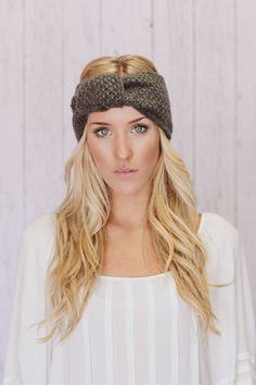 knitted knotted headband ear warmer