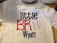 Baseball Little brother applique shirt