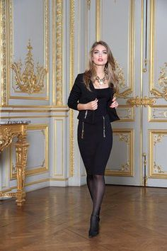 Jupe matelassée zips Nana Baila sur cpourl.fr #cpourl Glamour, Zip, Black, Dresses, Style, Fashion, Fashion Ideas, Trendy Outfits, Dress Skirt