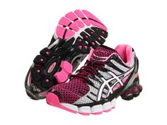 ASICS Gel-Kinsei® 4 Black/White/Neon Pink - Zappos.com Free Shipping BOTH Ways