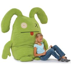 "6ft tall ""Ugly doll"" stuffed animal... going to try to make something similar for the boys."