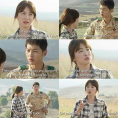 Song Hye-kyo and Song Joong-ki descendants of the sun Korean Drama Funny, Korean Drama Quotes, Dots Kdrama, Soon Joong Ki, Decendants Of The Sun, Sun Quotes, Mood Quotes, Kdrama Memes, Bts Memes