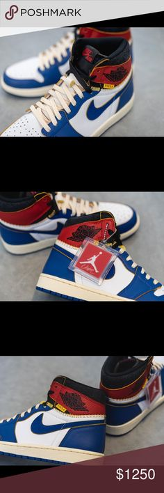 "52b52a4290a Union x Air Jordan 1 Retro High OG NRG Color  White Storm Blue-Varsity Red  ""Blue Toe"" Mens size  4.5 or Women s size  6 NEVER WORN! BRAND NEW  CONDITION!"