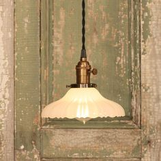Pendant Light with Vintage Sheffield Style by lucentlampworks, $138.00 - Love this!